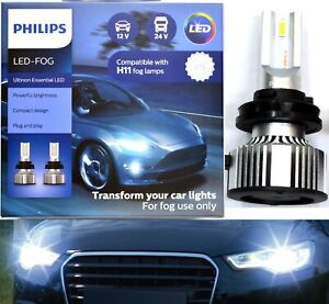 Philips Ultinon LED 40W 6500K White H11 Fog Light Two Bulbs Upgrade Replacement