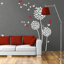 Dandelion Butterfly Wall Sticker  Flower Vinyl Child Bedroom Removable Art Decor