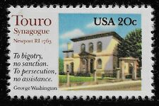 Stati Uniti Scott# 2017, Singolo 1982 Touro Sinagoga 20c FVF MNH