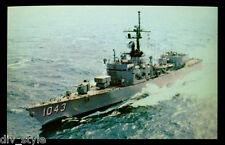 USS Edward McDonnell FF-1043 postcard US Navy fast frigate warship