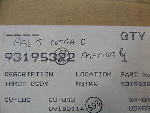 NEW GENUINE VAUXHALL OPEL CORSA D ASTRA J 1.3 CDTI THROTTLE BODY 93195322