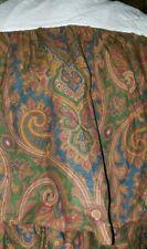 Excellent Ralph Lauren Brianna Paisley Bed Skirt Queen Blue Red Brown Green