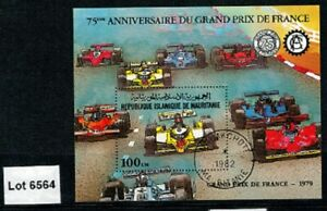 Lot 6564 - Mauritania - 1979 French Grand Prix 75th Anniv. Used Miniature Sheet
