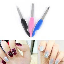 1x Foldable Stainless Steel Metal Nail Art Newest Pedicure Tool File Manicure HC