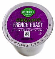 Wellsley Farms Organic French Dark-Roast Coffee 100% Arabica Keurig K-Cup Pods