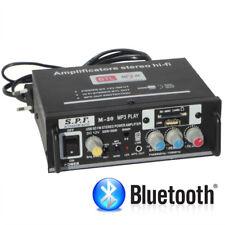 AMPLIFICATORE STEREO HI-FI 2/4 CANALI RADIO FM LETTORE MP3 USB BLUETOOTH