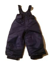 Cat & Jack Navy Blue Unisex Ski Bib Snow Pants Size 12 Month