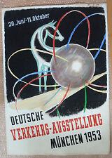 Plakat München 1953 Deutsche Verkehrsaustellung Orig.-Zeichnung de Marne Unikat!