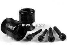 6mm Carbon fiber Swingarm Sliders Spools For YAMAHA YZF R6 YZF-R1 MT-01 Black