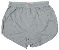 Soffe Lt Gray Nylon Ranger Panties / Silkies / Running Track Shorts Men's Medium
