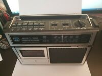 Vintage General Electric TV Sound AM/FM Radio Cassette Player Recorder 3-5224C