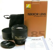 Nikon 85mm f/1.8 G Nikkor AF-S lens, boxed MINT #36545