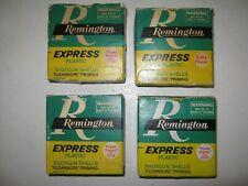 4 Vintage Empty Remington Express 12 Ga. Power Piston/Extra Power Ammo Boxes Usa