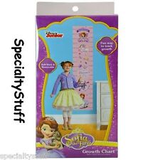 NEW DISNEY SOFIA THE 1ST GROWTH CHART SELF STICK & REMOVABLE HEIGHT CM & INCH TD