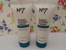 Boots No 7 Protect and Perfect Intense Advanced Night Cream. New  25ml X 2