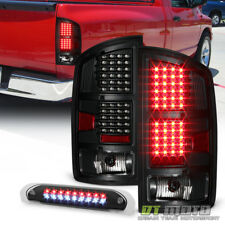 Blk 2002-2006 Dodge Ram 1500 SMD LED Tail Lights+LED 3rd Brake Light Cargo Lamp