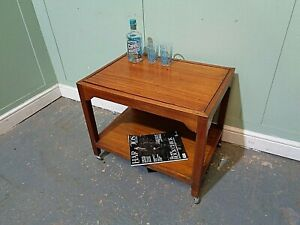 RETRO SOLID TEAK SOFA TABLE VINTAGE SIDE TABLE MID CENTURY END TABLE COFFEE TABL
