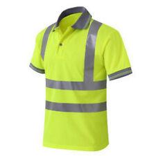 GOGO Reflective Safety Polo Shirt Short Sleeve High Visibility Workwear