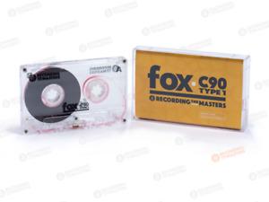 NEW RTM Cassette Tape FOX C90 90min Type I Normal Bias Clear C-0 Shell