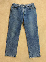 Lee Riders Vtg Mens Blue Jeans Straight Classic Faded USA Union Made Size 33x30