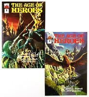 The Age Of Heroes #1 & 2 (1996 Halloween Comics, 1st Prints) Signed, Unread! NM