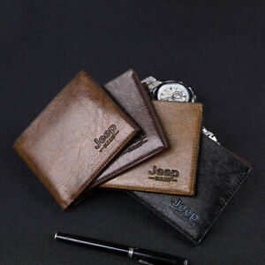 Men's Luxury Soft PU Leather Wallet Credit Card Holder Purse Retro