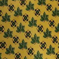 Gold Green Foulard Silk Tie