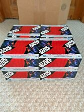 Star Wars 30th Anniversary 8 Boxes case open trading cards Base no chase sketch