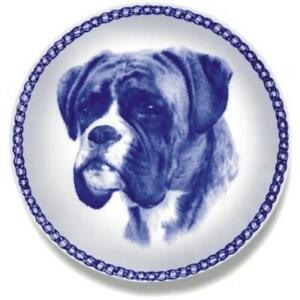 Boxer - Dog Plate made in Denmark from the finest European Porcelain