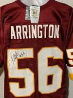 NEW NIKE SIGNED LAVAR ARRINGTON #56 REDSKINS JERSEY NFL FOOTBALL Penn State Auto