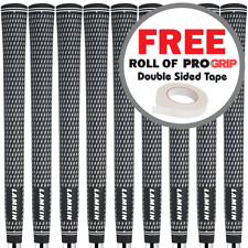 LAMKIN CROSSLINE MENS JUMBO OVERSIZED GOLF GRIPS X 9 +FREE ROLL OF GRIP TAPE