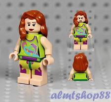 LEGO - Female Minifigure Beach Girl w/ Dolphin Shirt Top & Dark Orange Hair City