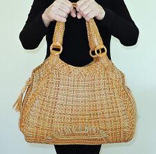 COLE HAAN Women's Woven Leather Designer Shoulder Bag Tote Handbag Purse NWOT
