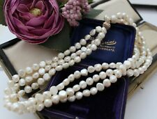 VINTAGE STYLE 3 STRAND CULTURED PEARL NECKLACE  - WEDDING BRIDAL PROM