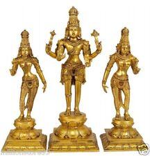 "JAI Three God Hari Hara Parvati Lakshim 16"" Brass Hindu Statue Figure Art 11 KG"