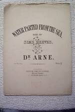 ANTIQUE OLD SHEET  MUSIC DR ARNE SIMS REEVES WILLIAMS