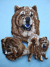 IRON-ON EMBROIDERED PATCH - CHOW CHOW - DOG