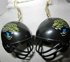 NORA WINN UNIQUE BIG EARRINGS 925 NFL FOOTBALL  HELMET JACKSONVILLE JAGUARS