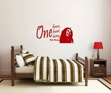 Wall Decal One Love One Heart One Destiny Bob Marley Quote Vinyl Sticker Decals
