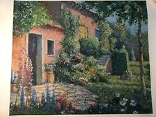 """Christian Title """"Italian Villa"""" Signed Ltd. Edition Serigraph w/COA"""