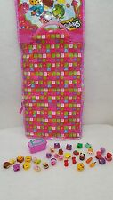 Shopkins Lot of 39 pcs with Children's Hanging Travel Bag Carrying Case euc