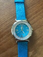 Funky Blue Glitter & Crystal Coloured Watch - New