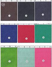POLYCOTTON CLOTH DRESS LINING FABRIC MINI PIN 1mm POLKA DOT DOTTY 30 COLORS 44'W