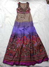 Esprit Maxi Kleid 36 bis 38 khaki lila rot wie NEU lang hippie ethno folklore