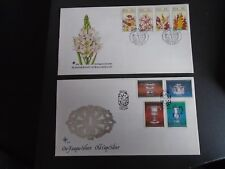 2 SOUTH AFRICAN FIRST DAY COVERS FROM 1985 FLOWERS & CAPE SILVER