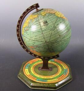 Vintage J Chein Small 1930 World Globe