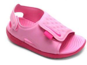 NEW!! NIKE SUNRAY ADJUST 5 (TD) PINK SANDAL LITTLE GIRLS SIZE 13C