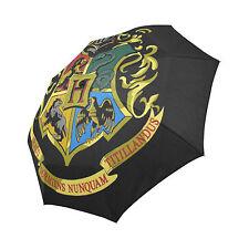 Harry Potter Hogwarts Rain Umbrella Wind Resistant Auto-Foldable Umbrella