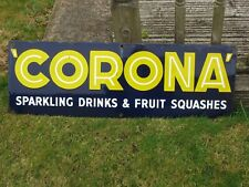 More details for antique advertising - enamel painted sign for corona sparkling drinks. very good