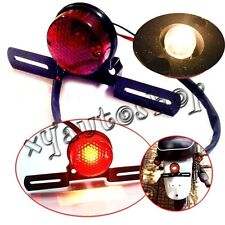 BLACK Round Motorcycle Tail Brake Light for Harley Bobber Chopper Rat Custom